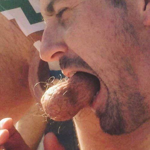 Hairy male balls