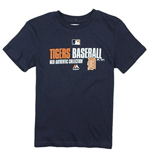 Detroit Tigers MLB Big Boys Authentic Collection Tee - Navy Blue (Medium (5/6))