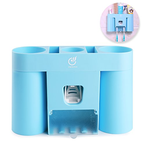 Wall Mounted Toothbrush Holder With Dustproof Cover 2 Suction Cups