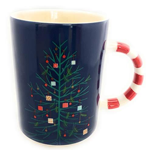 Christmas Candy Cane Mug - Starbucks 2018 Holiday Collection 12oz Blue Tree Candy Cane Mug