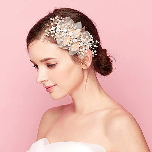 ART DECO VINTAGE Bridal Hair Comb Bride Wedding Mother Bridesmaids Hair Accessories Blush Pink Milk Glass Pearls Gold Oval Art Nouveau