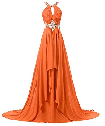 Hblld Straps Hollow Chest Evening Party Prom Dress Ball Gowns 26 Orange