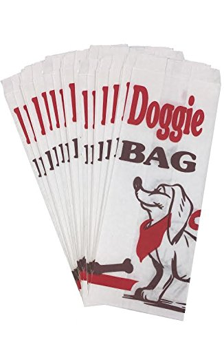 Outside the Box Papers Dog Birthday Party Treat Paper Sacks - Black White Red - 60 Bags
