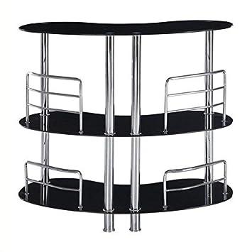 Amazon.com: Global Muebles Patas Mesa Alta de Bar (vidrio y ...