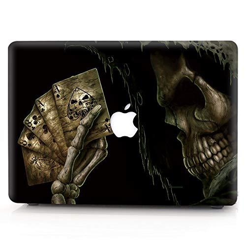Hard Case Compatible MacBook 12 Inch Case with Retina Display Model A1534 (Newest Version 2017/2016/2015), AJYX Halloween Pattern Matt Plastic Hard Shell Case Cover, WSJ11 Poker Death -