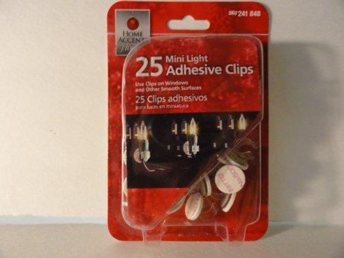 25 Mini Light Adhesive Clips