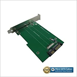 SATA III to Asus Zenbook/Sandisk SSD Adapter with PCI-e Bracket