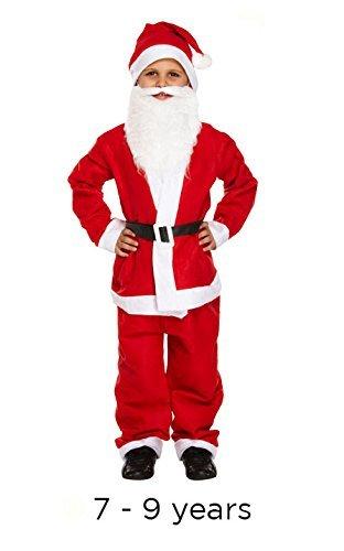 Child Boy 5 Piece Santa Costume Christmas - Medium Age 7-9 Years by Henbrandt ()