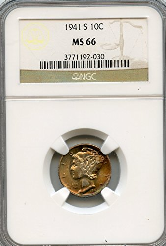 1941 S Mercury Dime MS-66 NGC