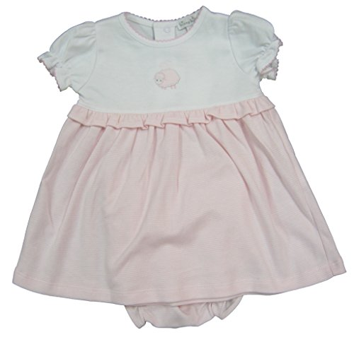 Kissy Kissy Baby-Girls Infant Lovable Lambs Stripe Dress-Pink And White-9 Months (Lovable Lamb)