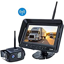 Digital Wireless Backup Camera System Kit, IP69K Waterproof Wireless Rear View Camera + 7'' LCD Wireless Reversing Monitor for Trailer, RV, Bus, Trucks, Horse-trailer, School Bus, Farm Machine,etc