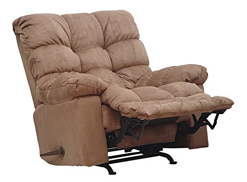 Magnum Chaise Rocker Recliner - 54689-2-2220-29 (Saddle) Catnapper Oversized Magnum Rocker Recliner with Heat and Massage. Free Curbside Delivery.