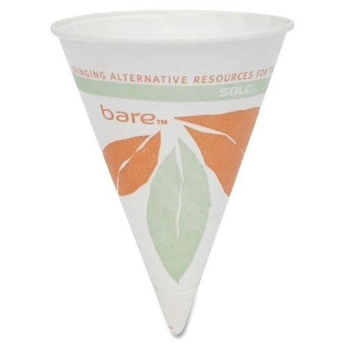 SOLO Cup Company Paper Cone Cups, Dry Wax, 4 oz, Case Pack 1200, ()