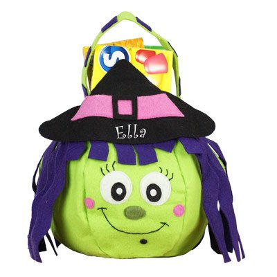 GiftsForYouNow Witch Personalized Trick or Treat Bag