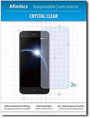 3 x Afinitics Crystal Clear Lámina de protección para ZTE Blade V6 ...