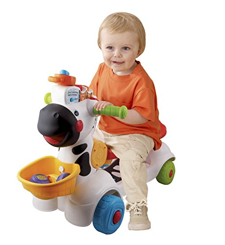 Image of the VTech 3-in-1 Learning Zebra Scooter