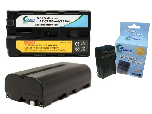 2x Pack Replacement NP-F550 Battery + Charger for