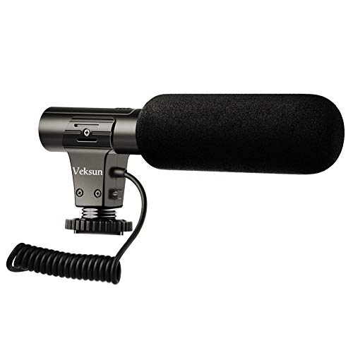 (Camera Microphone,Video Microphone for DSLR Interview Shotgun Mic for Canon Nikon Sony Panasonic Fuji Videomic)