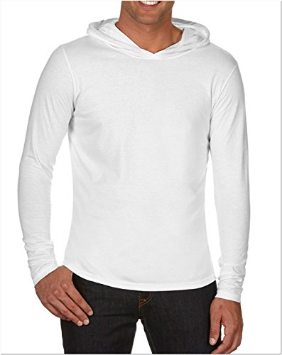 Comfort Colors Adult Long-Sleeve Hooded T-Shirt. 4900 White
