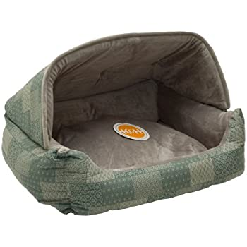 Ku0026H Pet Products Hooded Lounge Sleeper Pet Bed Teal Patchwork Print 20  x 25   sc 1 st  Amazon.com & Amazon.com : Pet Tent - Soft Bed for Dog and Cat Best Pet ...