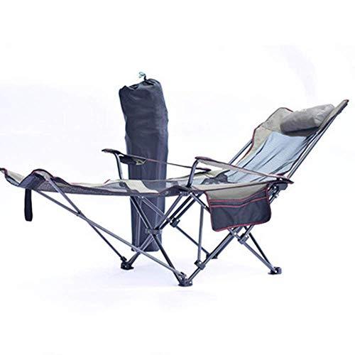 DFKDGL Silla de Camping Plegable portatil con reposabrazos Reposapies Portavasos Ligero de Alta Resistencia Mochila Plegable al Aire Libre Sillas para Adultos Silla de Camping