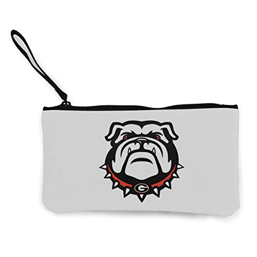 (Coin Purse Wallet Make Up Cellphone Bag With Strap Georgia Bulldogs)