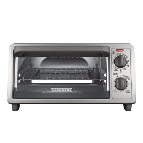 BLACK+DECKER TO1322SBD 4-Slice Toaster Oven, Includes Bake Pan, Broil Rack & Toasting Rack, Stainless Steel/Black Toaster Oven (Toaster Oven With Broiler compare prices)