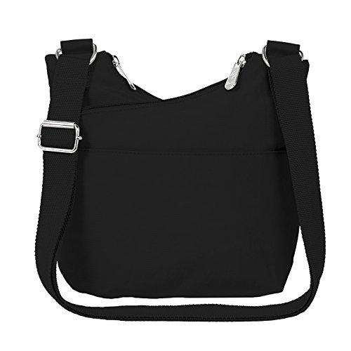 Crossbody Black Nylon Purse Overlap Handbag BwpKq100