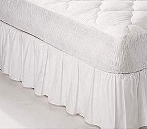 Yxp Hôtel Ruffle Jupe De Lit, Lit Jupe, Cantonnière Base Couverture Frilled Base De Juponnage Lit Wrap Easy Fit Jupe De Lit,Noir,198 * 203+35cm