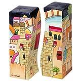 Yair Emanuel Salt and Pepper Shaker with Jerusalem Design