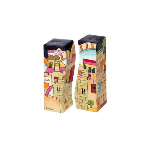 Yair-Emanuel-Salt-and-Pepper-Shaker-with-Jerusalem-Design