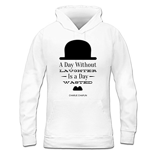 Sudadera con capucha de mujer A Day Without Laughter Is a Day Wasted by Shirtcity Blanco