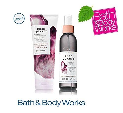 Bath & Body Works ROSE QUARTZ Set - Body cream and Fine Fragrance Mist Full Size by Bath & Body Works