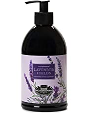 Simple Pleasures Luxury Lavender Fields Scented Aromatic Hand Cleanser - Classic Floral Design Hand Soap Dispenser Pump for Bathroom Or Kitchen Countertop - Backed by The Good Housekeeping Seal