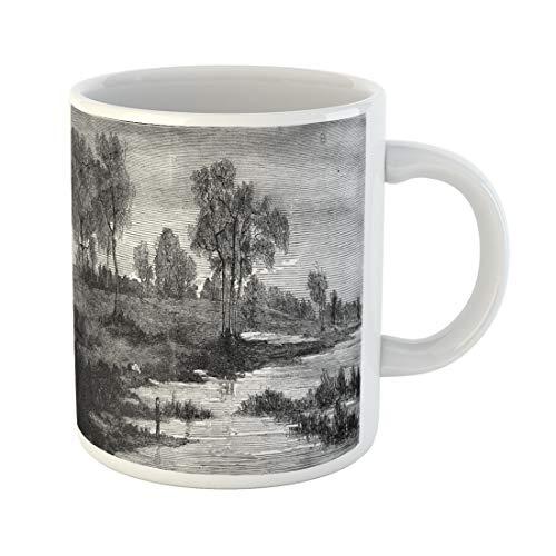 Semtomn Funny Coffee Mug Landscapes By Fritz Van De Kerchove Vintage Engraved Magasin 11 Oz Ceramic Coffee Mugs Tea Cup Best Gift Or - Antique 1876 Engraving