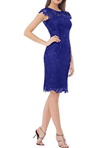La Kurzes Abendkleider Lila Blau Spitze Braut Damen Royal Kleider Dunkel Brautmutterkleider Jugendweihe Knielang Marie IwxARYw