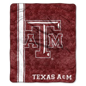 The Northwest Company Officially Licensed NCAA Texas A&M Aggies Jersey Sherpa on Sherpa Throw Blanket, 50
