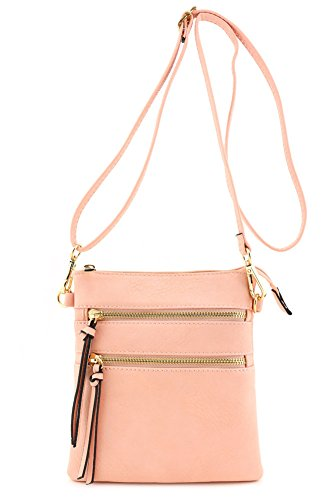 Functional Multi Pocket Crossbody Bag (Blush)