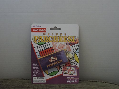 Basic Fun Item# 547-0 Deluxe Parcheesi Keychain Really Works -