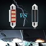 39mm Festoon LED Car Bulb 6pcs, LED Dome Reading Xenon White Bulbs Car Interior Light Replacement License Plate Lights…