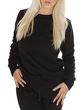 Love My Fashions Women's Plain Athletic Sweatshirt Small / Medium Black