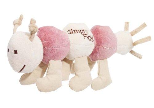 Simply Fido Organic Plush 10-Inch Pet Toy, Maggie Caterpillar, Pink, My Pet Supplies
