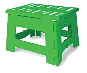 Amazon Com Kikkerland Rhino Easy Fold Step Stool Short