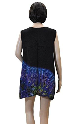 Sommerbekleidung Weiter Schnitt Shirt Top Rock Bandeaukleid Haremshose Batikmode 42433 - Top ZP6eno