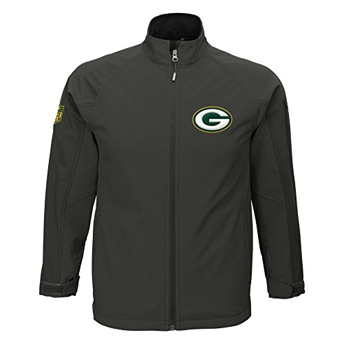 NFL Green Bay Packers Boys (8-20) Transitional Soft Shell Jacket, Large, Cool Grey