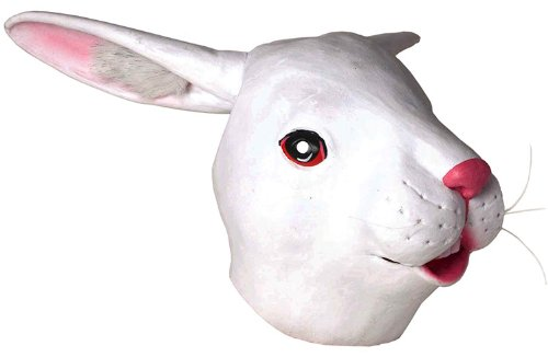 [Forum Novelties Men's Deluxe Latex Rabbit Mask, White, One Size] (Halloween Costumes Rabbit)