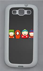 South Park TPU Silicone Rubber Case Cover for Samsung Galaxy S3 SIII I9300 White