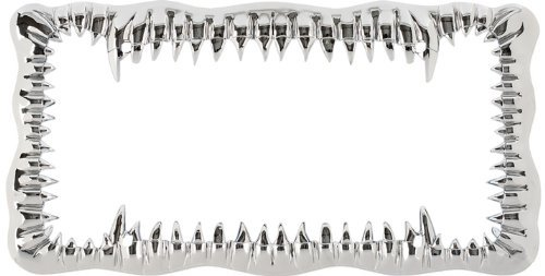 Jaws Shark Teeth Auto Car Truck SUV Vehicle Universal-fit License Plate Frame - Plastic - SINGLE