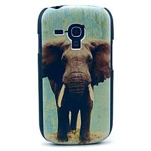 ZXM-Patrón de elefante dura del caso para Samsung Galaxy S3 I8190 Mini