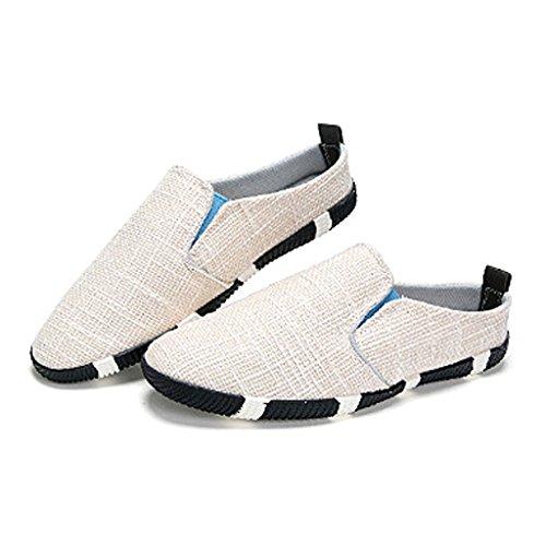 Scarpe all'esterno Colore tela da CN41 Scarpe EU40 Pantofole UK7 uomo Nero Beige LI SHOP SHI estivo Baotou di XIANG pigre shoes lino Pantofole di canvas casual dimensioni wnqHxTR